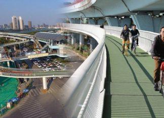 จักรยานลอยฟ้า! จีนยกระดับถนนให้นักปั่นเปลี่ยนที่ขี่หลบรถในเมืองใหญ่